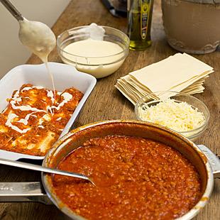 Lasagne mit Bolognesesauce