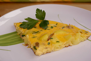 Vegetarisches Omelette