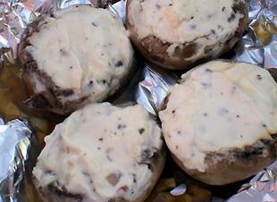 champignons grillen gefüllt