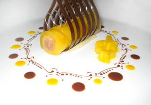 Mango Cannelloni mit Schokoladenfüllung