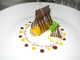 Dessert bereit zum Servieren