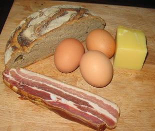 Zutaten für das Bergsteigerfrühstück