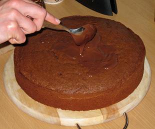 Schokoladenglasur - Rezept Bild