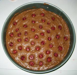 Kirschen auf dem Kuchen - Rezept Bild