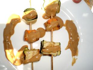 Tofu – Gemüse – Spieße