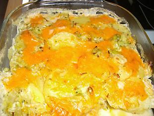 Rezept Bild - Kartoffel Lauch Gratin