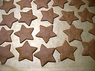 Rezeptbild - Nougatsterne aus dem Ofen