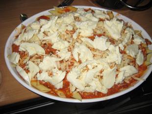 Mozzarella und Parmesan