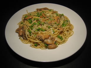 Spaghetti mit Rosmarinsoße