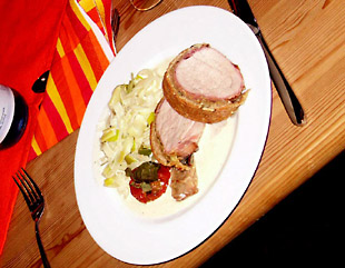 Rezeptbild - Schweinefilet in Dinkel-Kürbiskernbrotteigmantel