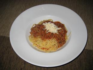 Spaghetti mit Bolognese-Sauce