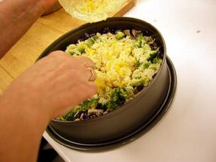 Gemüsereiskuchen - Rezept Bild