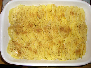 Kartoffelgratin in Form - Rezept Bild