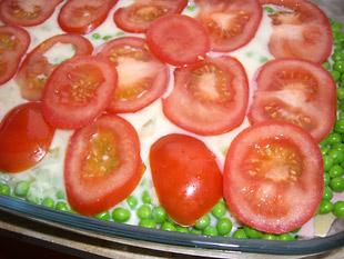 Schinken Erbsen Lasagne - Rezept Bild