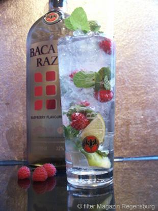 Cocktail Mojito Razz - Rezept Bild