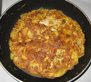 Spanische Tortilla in der Pfanne - Rezept Bild