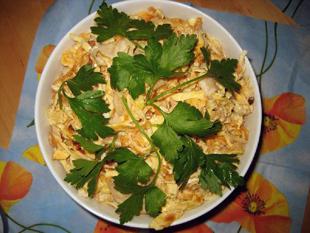 Eiersalat mit Huhn