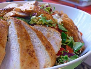 Salat mit Currypoulade