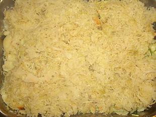 Sauerkraut auf Kartoffeln - Rezept Bild
