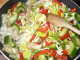 Gemüse Reispfanne - Rezept Bild
