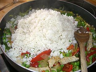 Reis-Gemüse Reispfanne - Rezept Bild