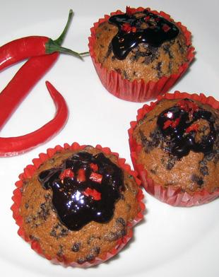 Schoko Chili Muffins - Rezeptbild