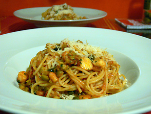 Spaghett mit Pulpo