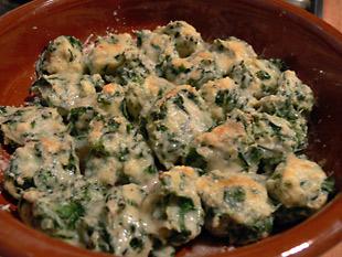 Malfatti mit Parmesan überbacken