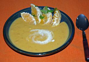Orangen-Karotten Suppe