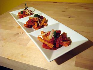 Pasta mit Speck und Tomaten