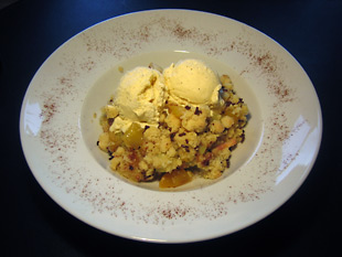 Mango-Rhabarber – Crumble