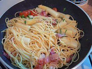 Spaghetti schwenken