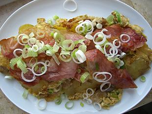 Suesskartoffeln Omelette