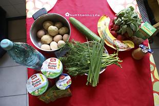 Zutaten für die Sommersuppe