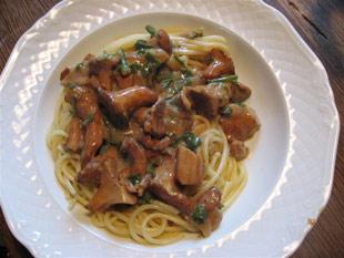 Pfifferlingsoße für Pasta