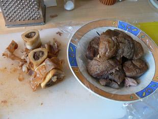 Fleisch parieren