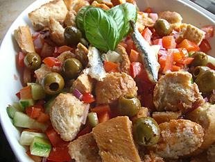 Panzanella - Italienischer Brotsalat