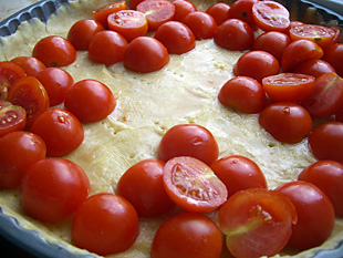 Tomaten in Tarteform