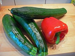 Zutaten Zucchinisuppe
