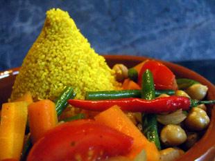 Gewürzcouscous mit Gemüse