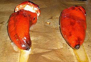 Spitzpaprikas im Ofen