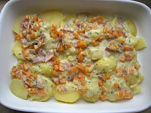 Kartoffelgratin schichten
