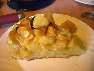 Ein Stück Apfelkuchen