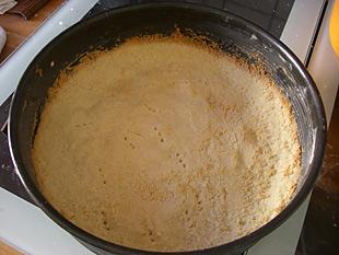 Käsekuchen Boden gebacken
