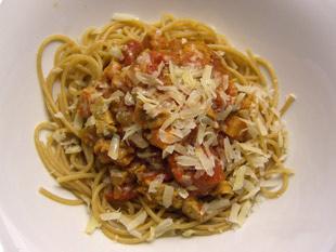 Vollkorn-Spaghetti mit Kalbsbolognese