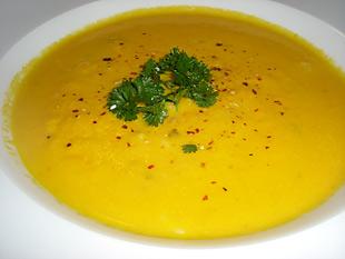 Karottensuppe mit Reis