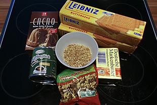 Zutaten für die Süße Wurst