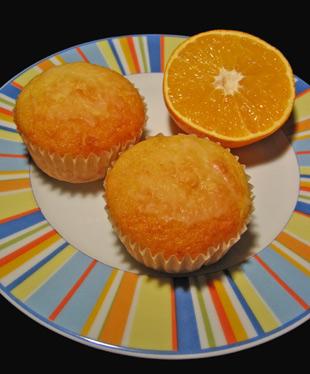 Orangen Muffins mit Cointreau