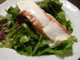 Räucherlachs auf Salat