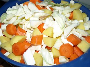 Gemüse für den Eintopf